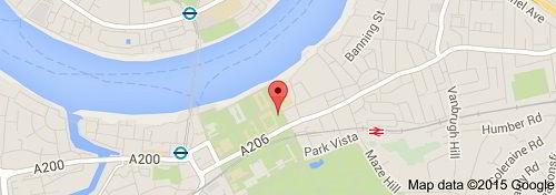 Vị trí đại học tổng hợp Greenwich