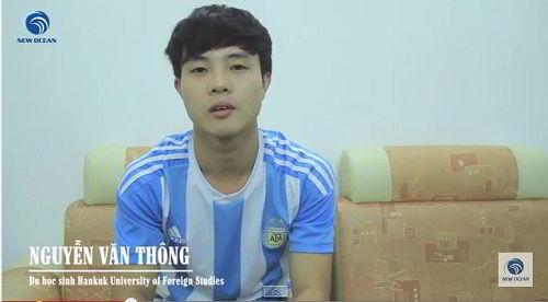 Nguyễn Văn Thông nhận visa du học Hàn Quốc