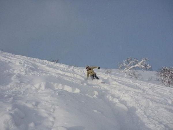 Mùa đông - trượt tuyết ở Nhật Bản.