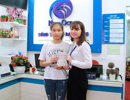 Nguyễn Thị Ngọc Anh nhận visa du học Canada từ New Ocean