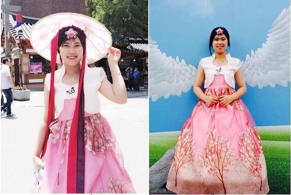 Cô gái nhỏ nhắn ngày nào đã trở thành cô gái Hàn Quốc xinh đẹp.