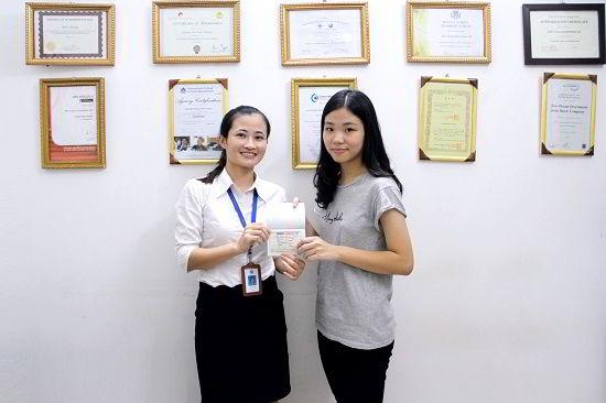 Lê Thị Bích Ngọc nhận visa du học Canada chương trình CES