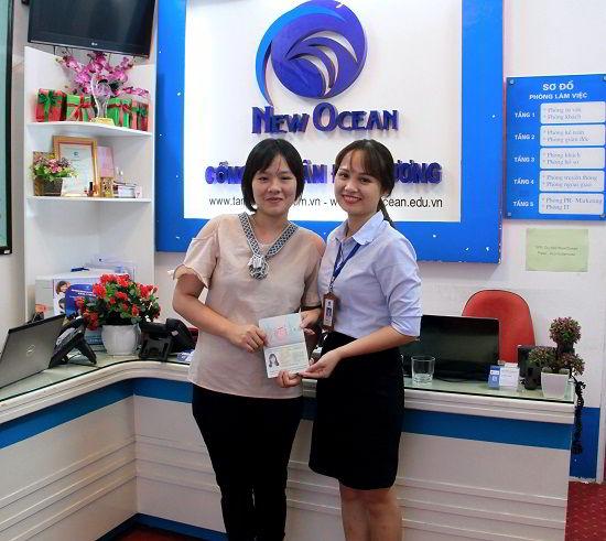 Võ Thị Tố Uyên nhận visa du học Hàn Quốc