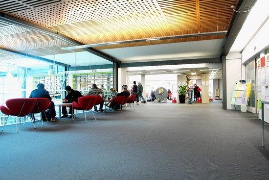Quán cafe ngay trong khuôn viên Trường Kỹ Thuật Công nghệ Wellington (WelTec)