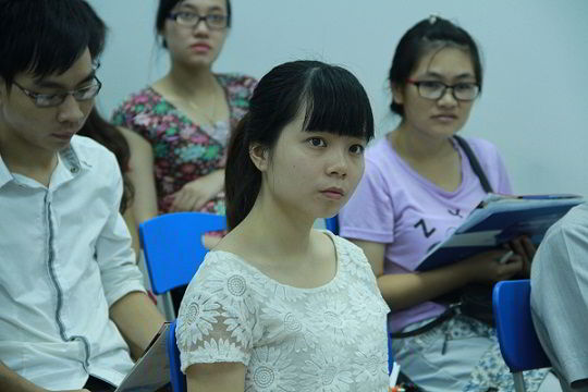 Học sinh tại hội thảo du học nghề