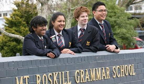 Sinh viên trường Mount Roskill Grammar School