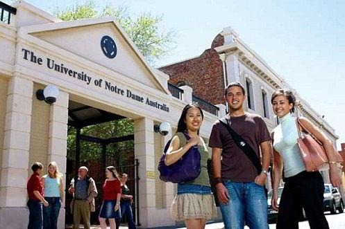 Cổng trường Đại học Notre Dame Australia