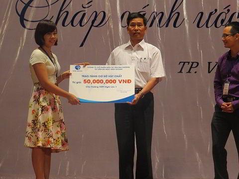 New Ocean trao các gói hỗ trợ cơ sở vật chất cho các trường học ở 2 tỉnh Nghệ An - Ha Tĩnh
