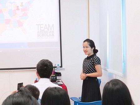 Bà: Nguyễn Thu Dung – Giám đốc tuyển sinh tại Việt Nam của Tập đoàn giáo dục Mỹ (American Scholar Group)