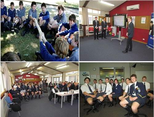 Lớp học và các hoạt động của học sinh trường nam sinh Timaru