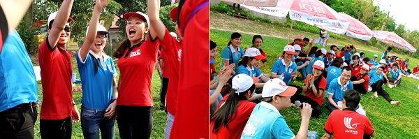 """Các đội còn """"cống hiến"""" cho tất cả các thành viên tham gia những tràng cười và những niềm vui không thể nào quên."""
