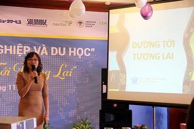Bà Hoàng Vĩnh Hường chia sẻ kinh nghiệm chuẩn bị du học