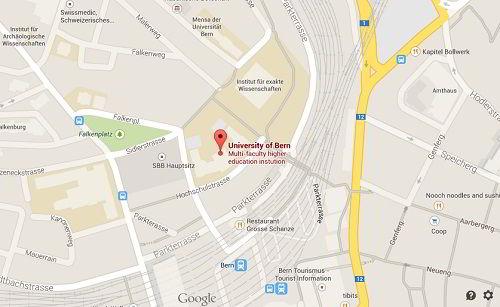 Vị trí trường Đại học Bern