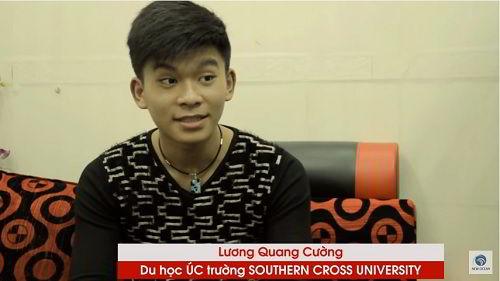 Lương Quang Cường nhận Visa du học Úc tại trường SCU