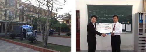 New Ocean tặng quà trường THPT tại Nghệ An
