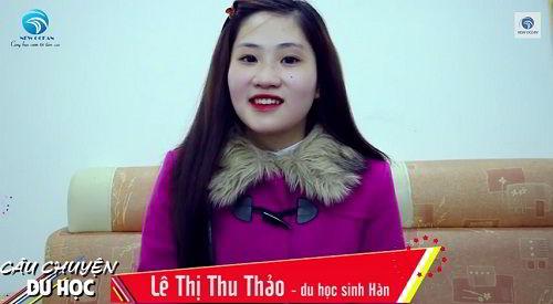 Lê Thị Thu Thảo nhận visa du học Hàn Quốc