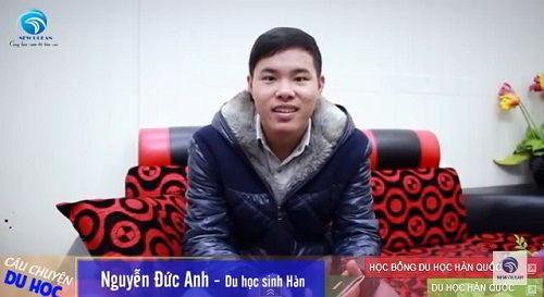 Nguyễn Đức Anh nhận visa du học Hàn Quốc