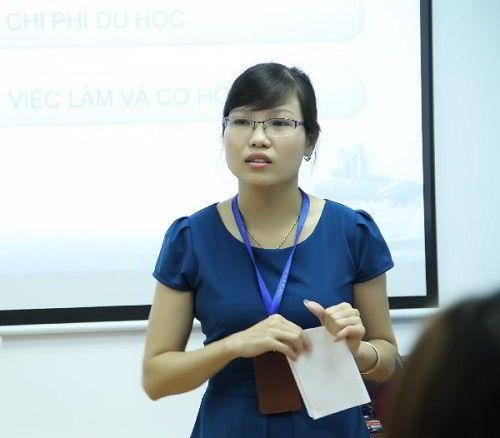 Bà Hoàng Thị Vĩnh Hường – Giám đốc Chiến lược Công ty tư vấn du học New Ocean