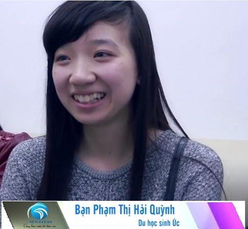 Phạm Thị Hải Quỳnh nhận visa du học Úc