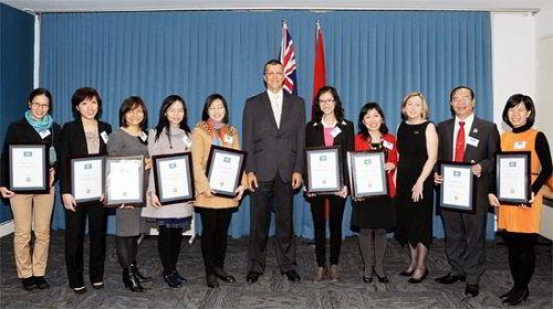 Các ứng viên Việt Nam nhận học bổng Endeavour Scholarships and Fellowships