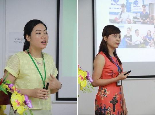 Bà Phan Thị Quỳnh và bà Phạm Nguyên Ly chia sẻ những thông tin du học Nhật Bản hữu ích