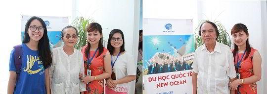 Nhân viên New Ocean cùng phụ huynh và học sinh tham dự hội thảo du học Nhật Bản cùng Học viện Ehle