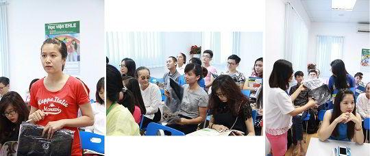 Nhiều phần quà hấp dẫn được trao trong buổi hội thảo du học Nhật Bản