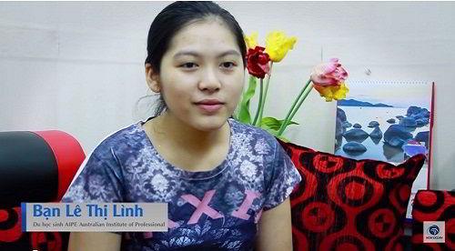 Chúc mừng bạn Lê Thị Lình nhận visa du học Úc trường AIPE