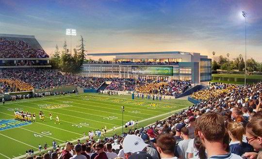 Sân bóng với sức chứa hàng ngàn người của trường SJSU