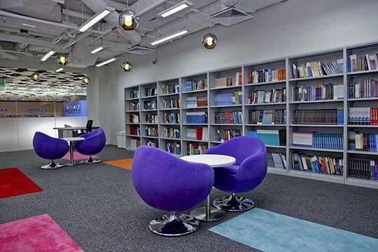 Thư viện khang trang của Học viện Kaplan