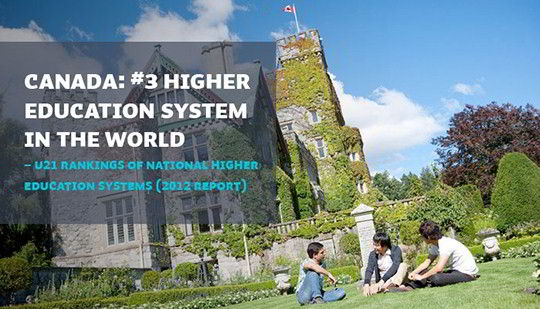 Đại học Royal Roads xếp vị trí 21 trong hệ thống giáo dục bậc cao tại Canada