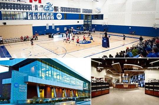 Hình ảnh sân bóng rổ, khu vực đào tạo về sức khỏe/ chế biến rượu của trường