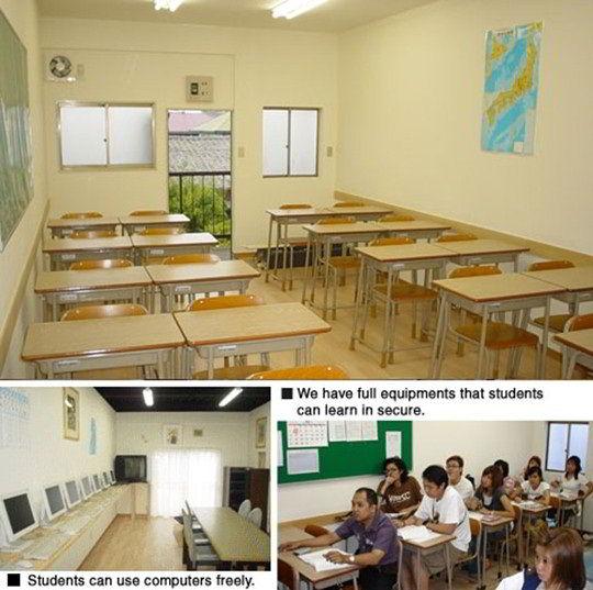 Cơ sở vật chất của trường Ngôn ngữ Hitachi