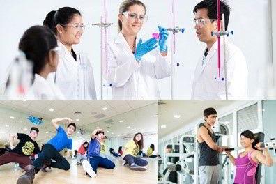 Hình ảnh phòng thí nghiệp và phòng tập thể thao của MDIS