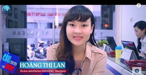 Bạn Hoàng Thị Lan lựa chọn du học Hàn Quốc tại Đại học Hanyang