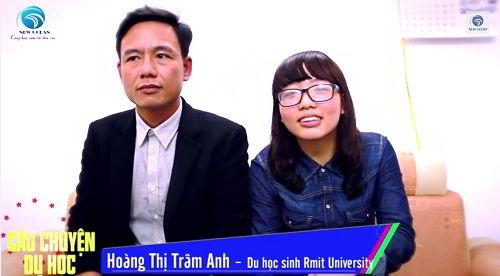 Hoàng Thị Trâm Anh nhận visa du học Úc