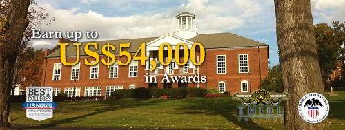 Học bổng 54000 USD của Đại học Thiel College