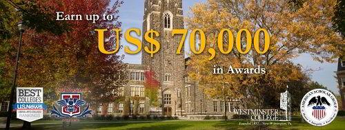 Học bổng 70000 USD của Đại học Westminster