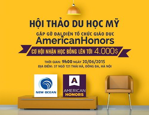Hội thảo du học Mỹ cùng học bổng 4,000$ từ American Honors