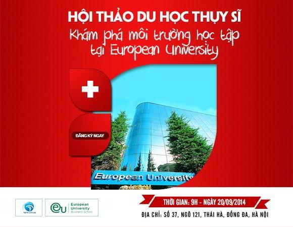 Hội thảo du học Thụy Sĩ : Khám phá European University