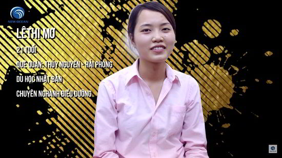 Lê Thị Mơ trong ngày nhận Visa du học Nhật Bản
