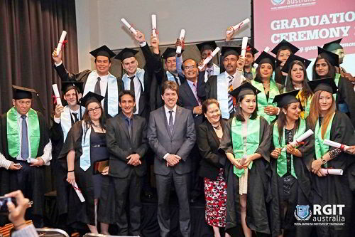 Lễ tốt nghiệp của sinh viên RGIT