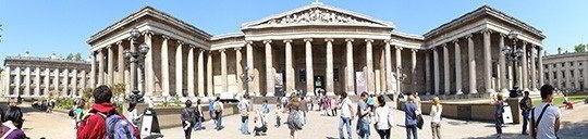 Quang cảnh cổng chính của British Museum