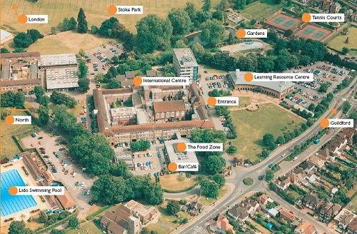 Sơ đồ khuôn viên khu vực trường Cao đẳng Guildford