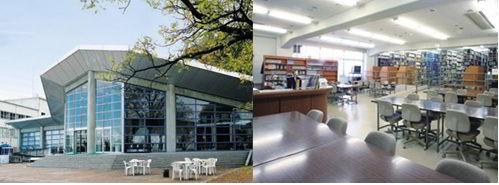 Thư viện và hội trường sinh viên của trường Nakanihon