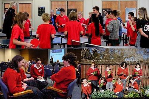 Hình ảnh các em học sinh trong các giờ học tại trường Kaikorai Valley