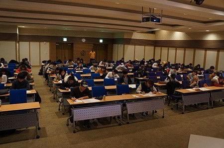 Hình ảnh một trong những kì thi viết của nhà trường Kyungpook
