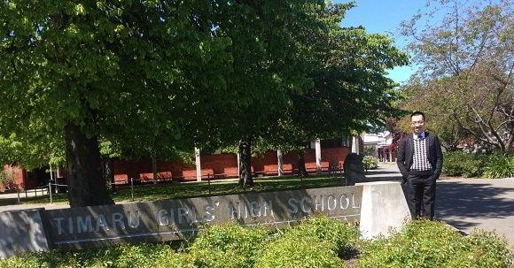 Hình ảnh đại diện New Ocean khi đến thăm trường Timaru Girls' High School
