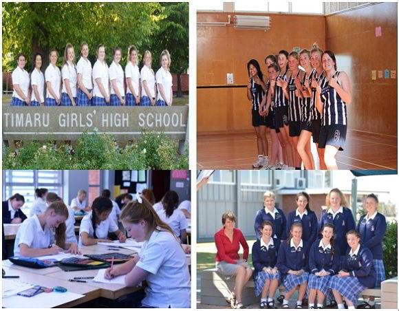 Lớp học và các hoạt động của học sinh trường nữ sinh Timaru.