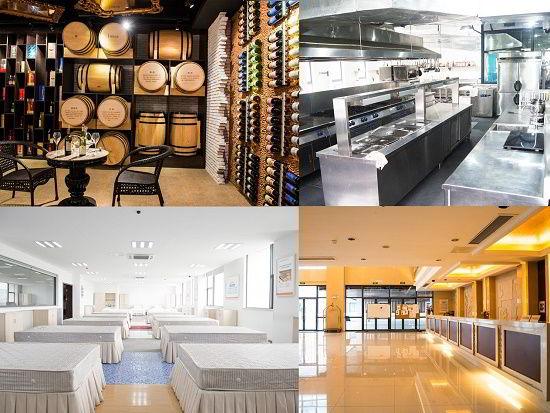 Cơ sở vật chất phục vụ thực hành lễ tân, bếp, buồng phòng và pha chế rượu của trường